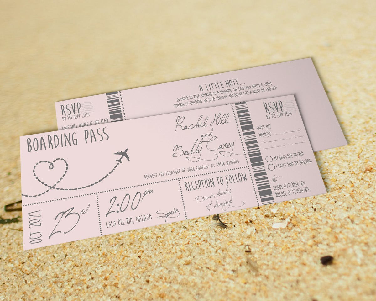 Blush Boarding Pass