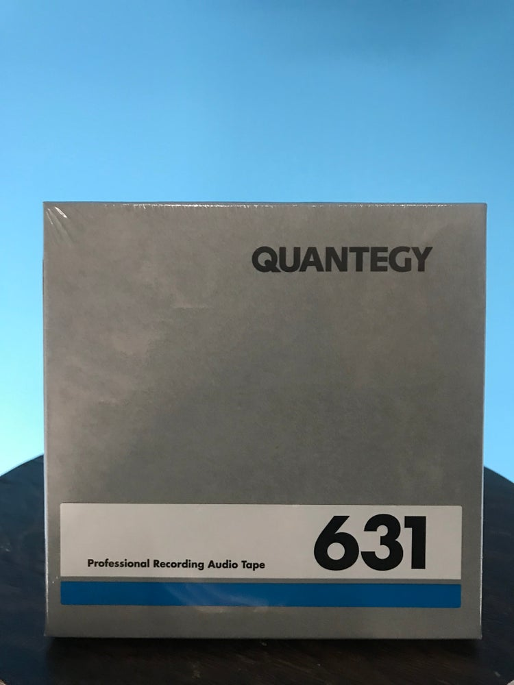 "Image of Quantegy 631 1/4"" x 600' on a 5"" Plastic Reel/ Boxed New"