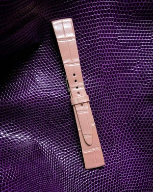 Image of Pearl Pink Alligator Slim watch strap