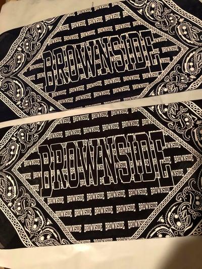 Image of BROWNSIDE LOGO BANDANA
