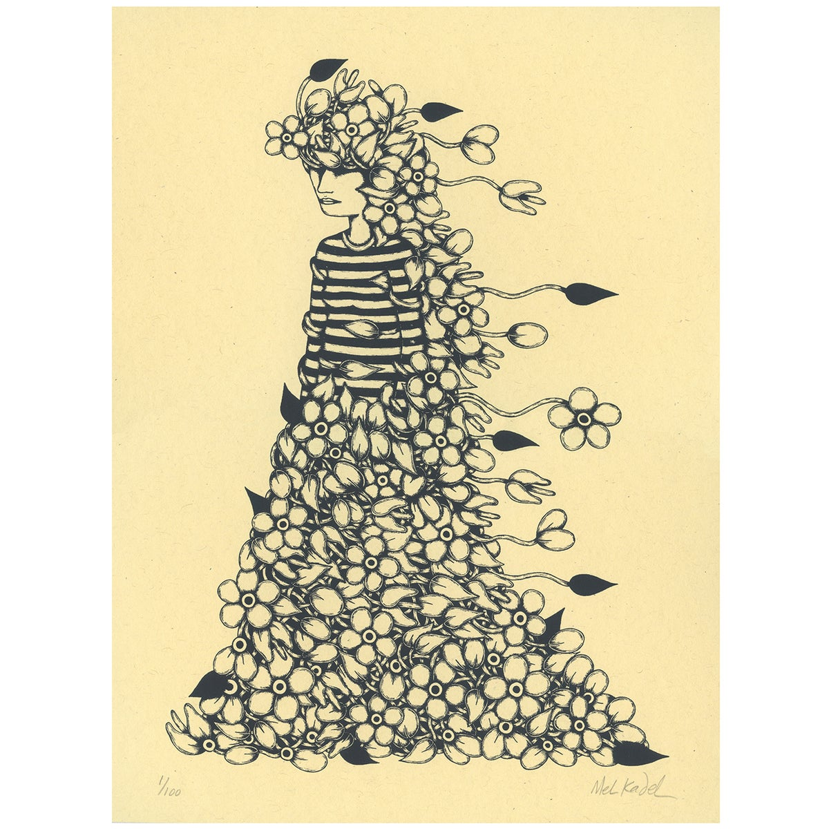 Image of GARDEN GOWN - print