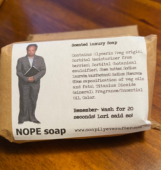 Image of NOPE Soap featuring Lori Lightfoot, Chicago Mayor