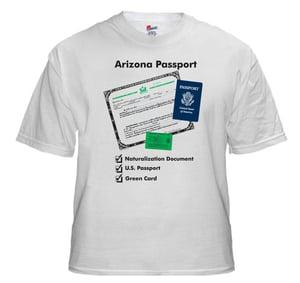 Image of Arizona Passport T-Shirt (White)