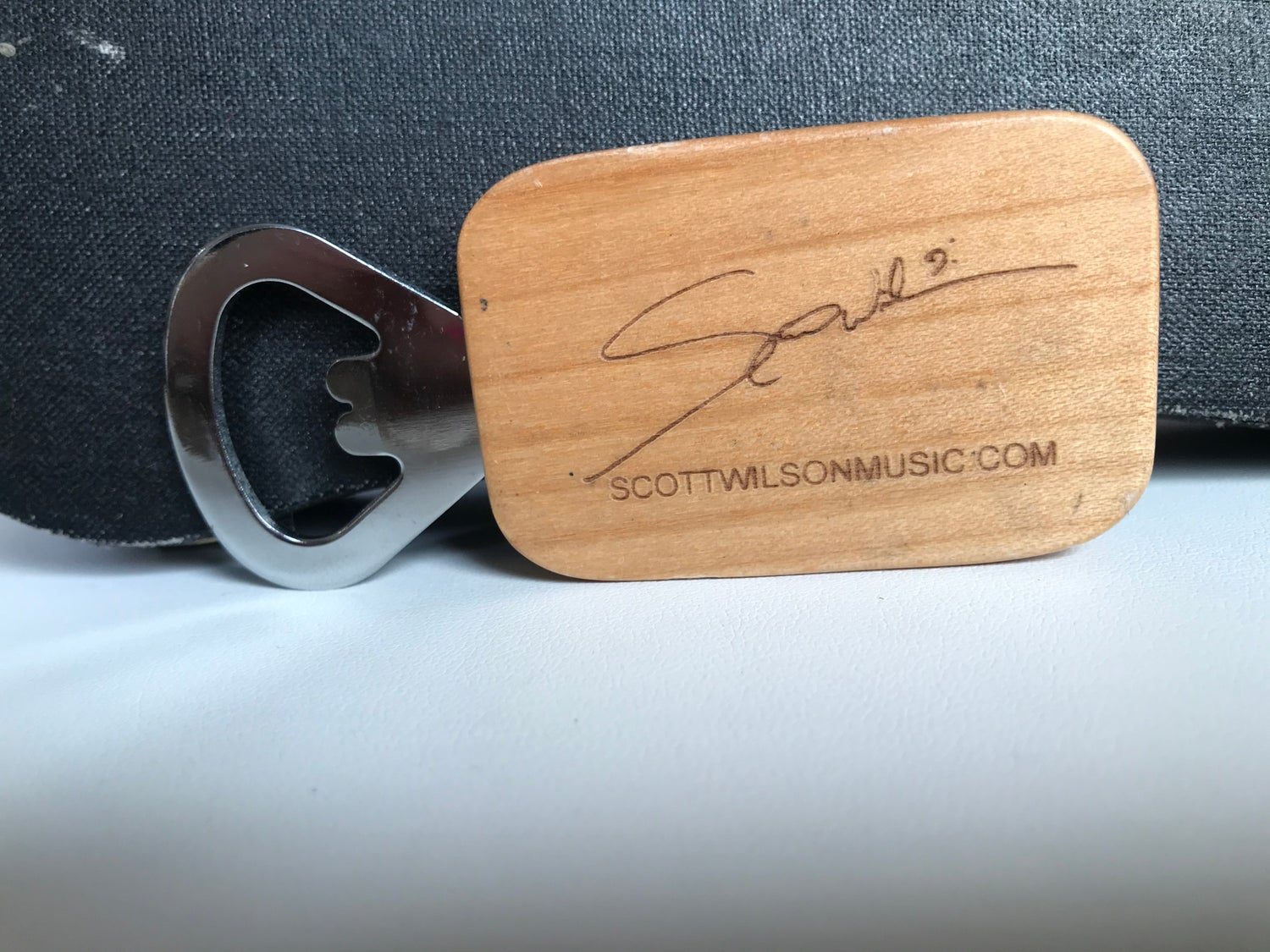 """Image of """"Crew Relief"""" Men's Edition Bottle Opener. Wood Engraved Signature."""