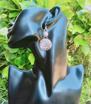 Image of Sterling Silver Embossed Earrings 2