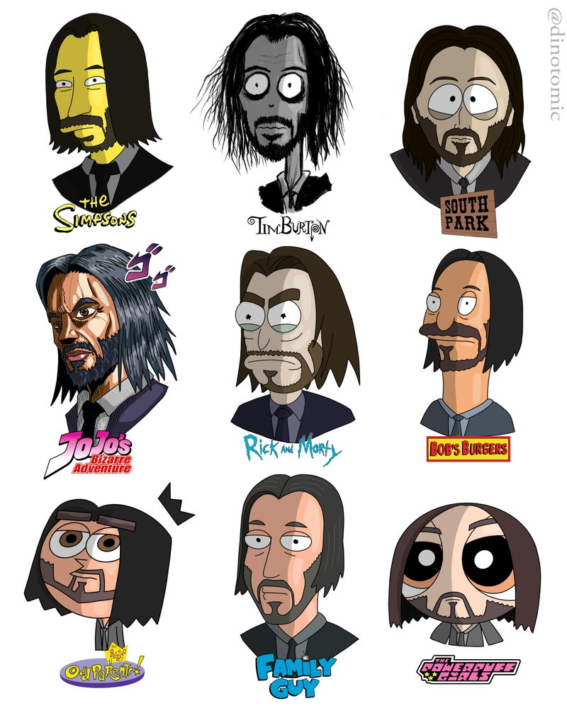 Image of #183 John Wick in many styles