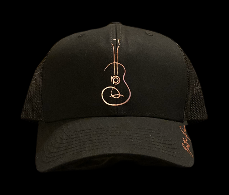 Image of Rose Gold/Black Contemporary Uke Trucker Hat