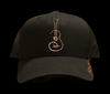 Rose Gold/Black Contemporary Uke Trucker Hat