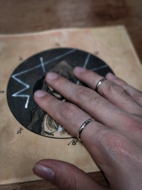 Image of SHIZHANEE'. NORMAL OR MIDI ADJUSTABLE RING ↟ recycled sterling silver - pick size, pattern, finish