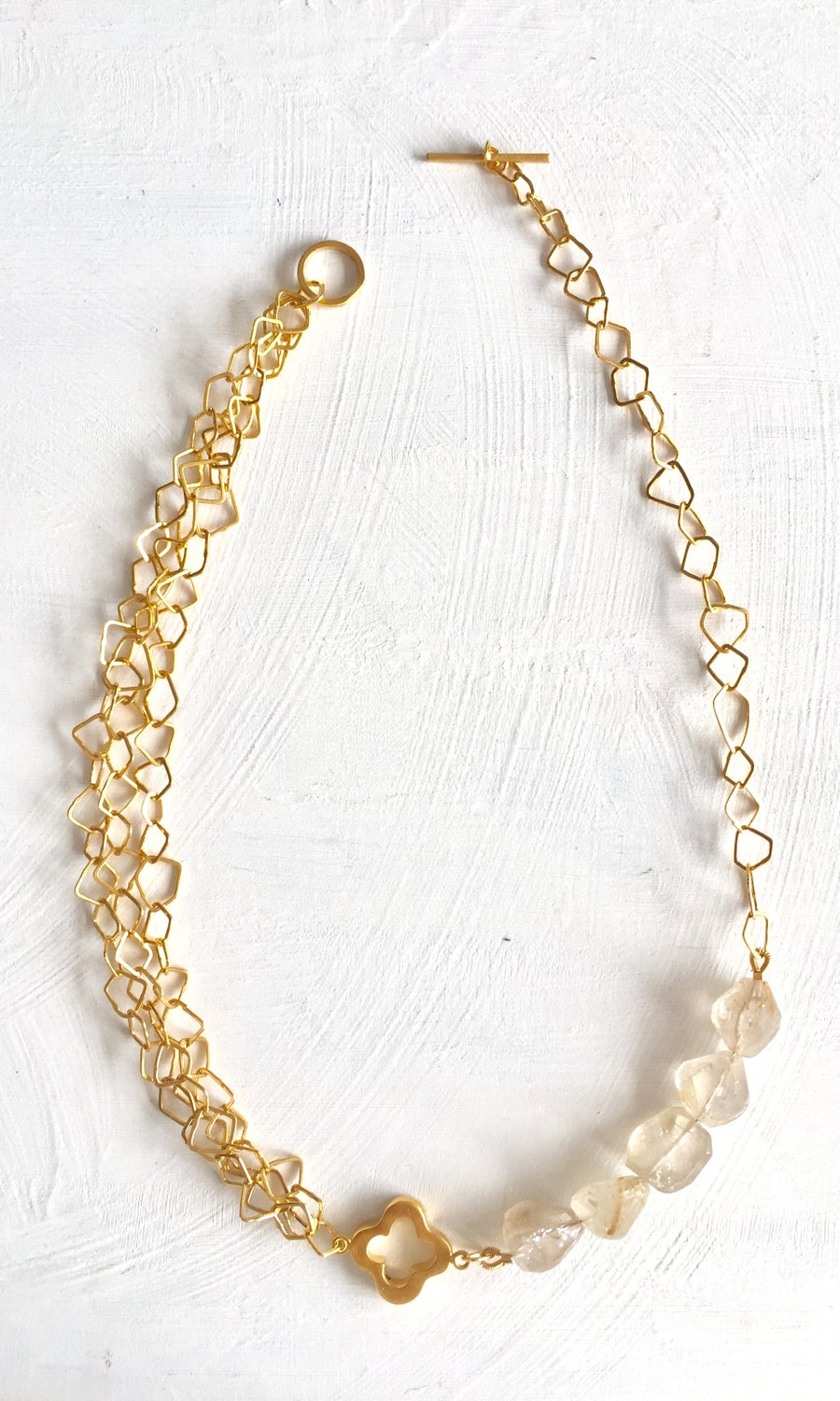 Image of Indian summer necklace- Gold Rutilated Quartz