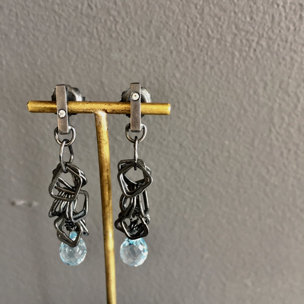 Image of Indian summer earrings- blue topaz brio