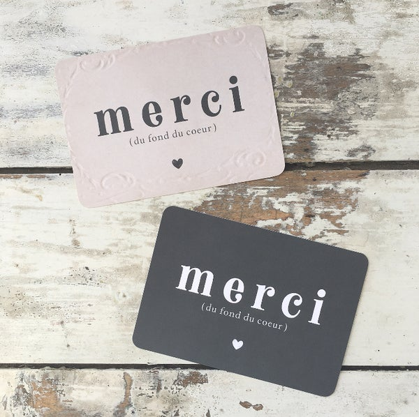 Image of Carte Postale MERCI / DU FOND DU COEUR