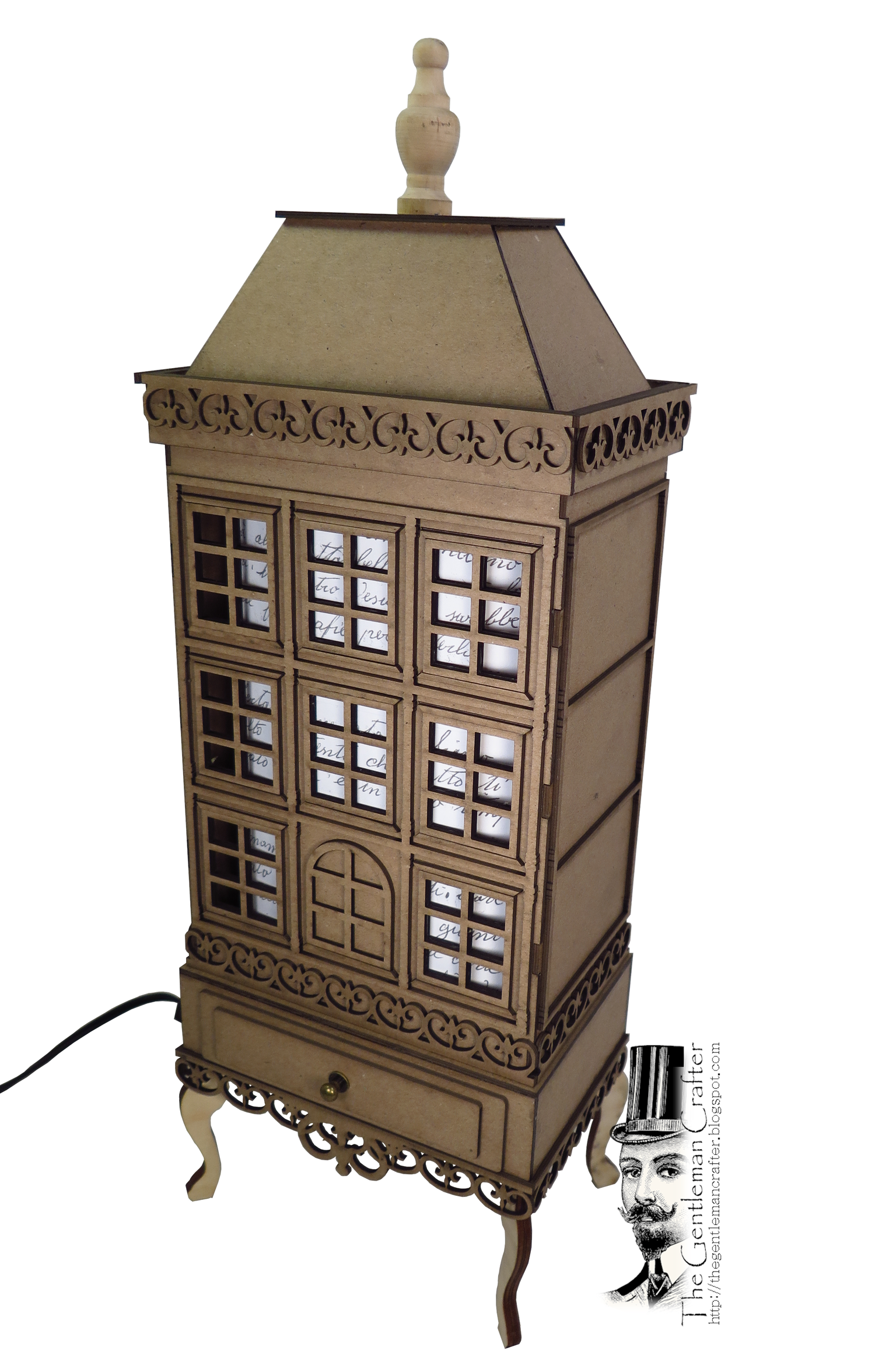 Image of MORE ADDED! César's Maison Lampe Chipboard Kit Only