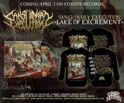 Image of SANGUINARY EXECUTION	Lake of Excrement	CD/T-shirt/Sweatshirt