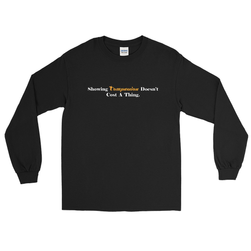 "Image of Black ""Burning Compassion"" L/S T-Shirt"