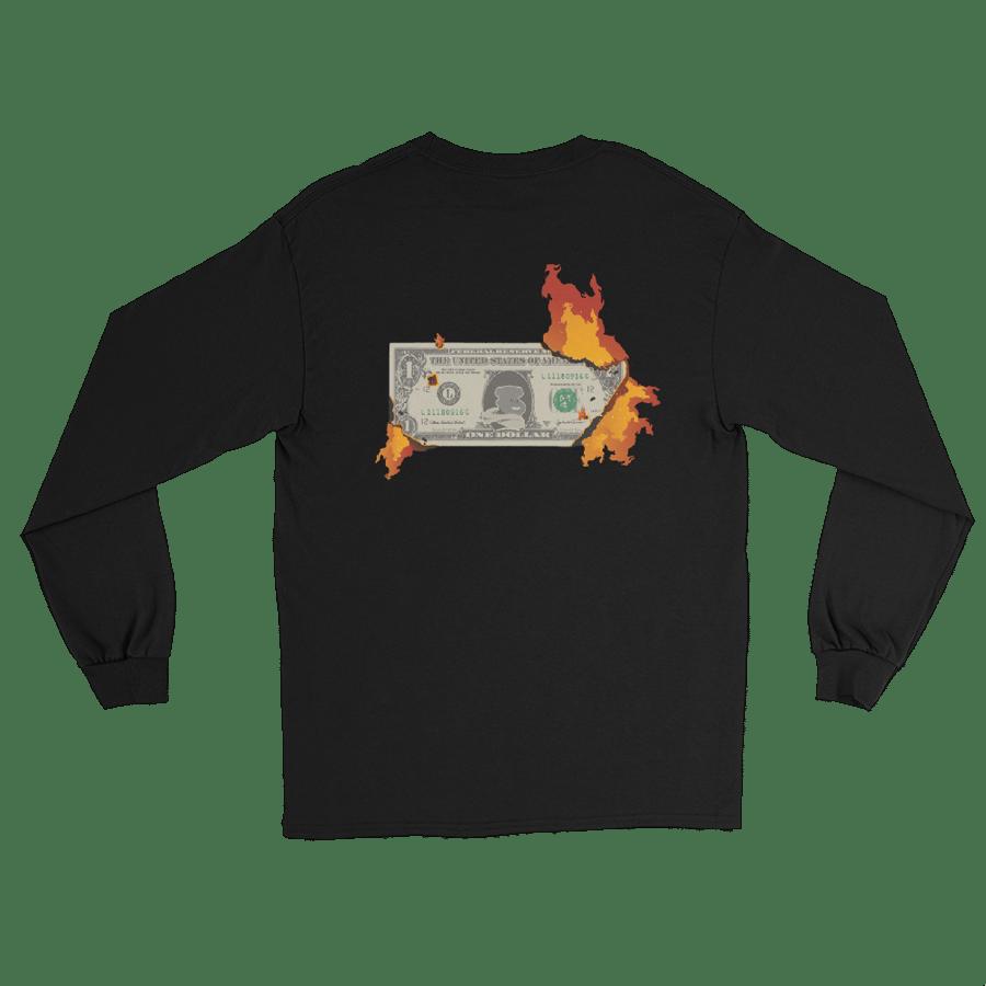 "Image of Black ""Burning Compassion"" L/S T-Shirt"