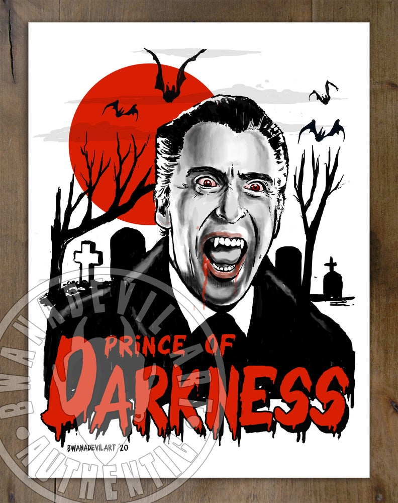 Image of Dracula Prince of Darkness (Christopher Lee)Art Print 9 x 12 in.