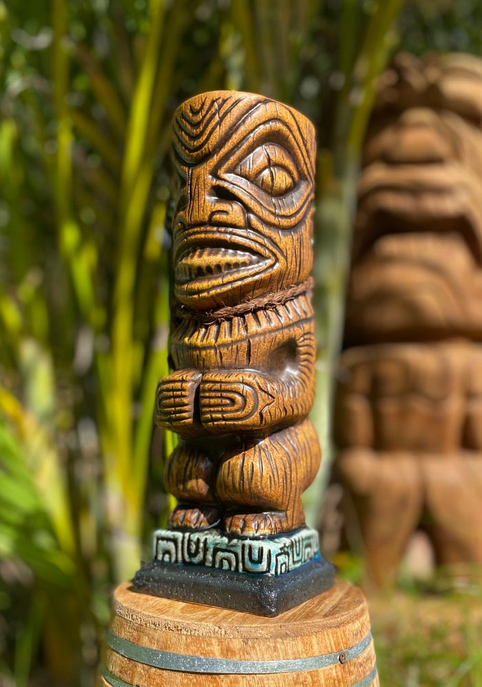 Image of Marquesan Ka'oha Custom Tiki Mug - Lava Red