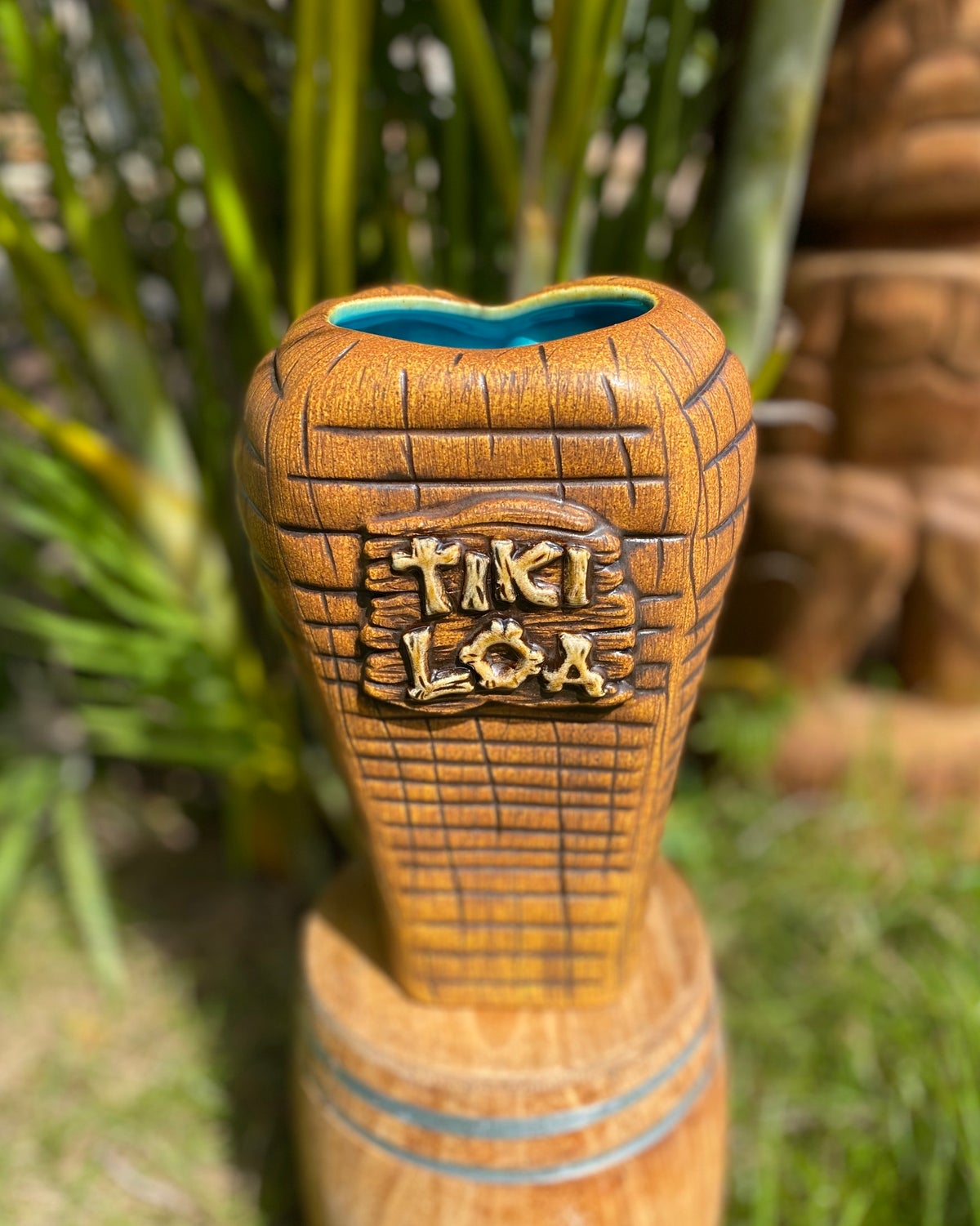 Image of Custom Tiki Loa Tiki Mug - Sea Foam Blue