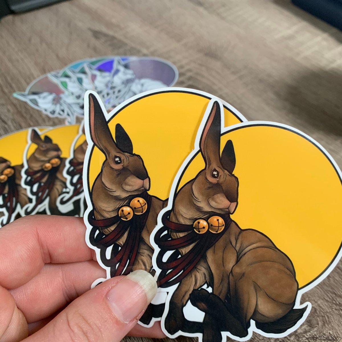 Chubby Bunny Stickers