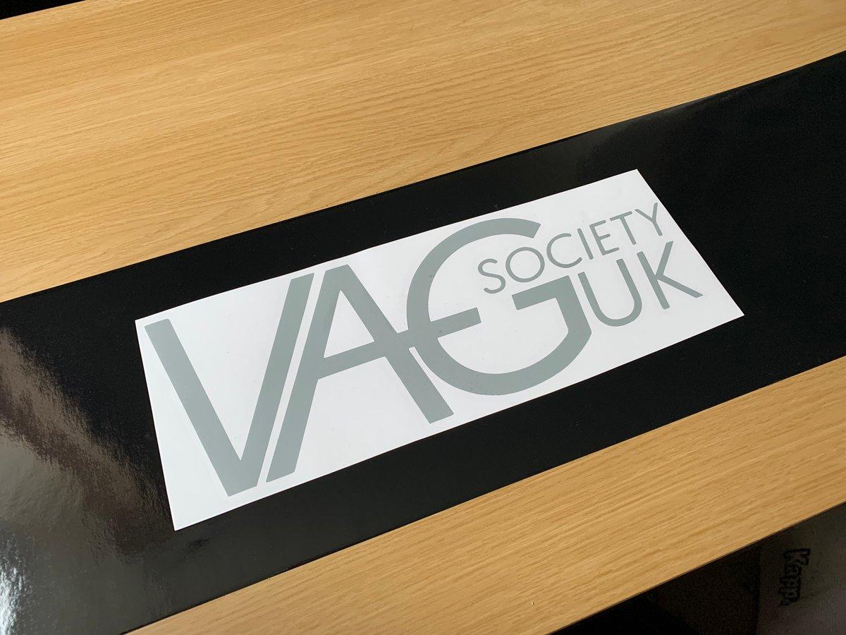 Image of VAGSocietyUK Gloss Black Sunstrip & OG logo Sticker