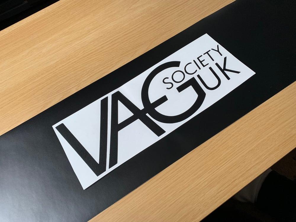 Image of VAGSocietyUK Matte Black Sunstrip & OG Logo Sticker