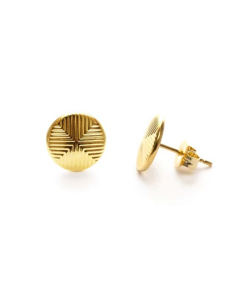 Image of Amano Gold Quadrant Stud Earrings