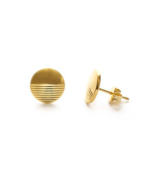 Image of Amano Gold Horizon Stud Earrings