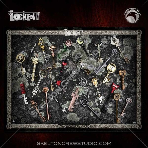 Image of Locke & Key: Deluxe Skelton Crew Studio Keys to the Kingdom print!