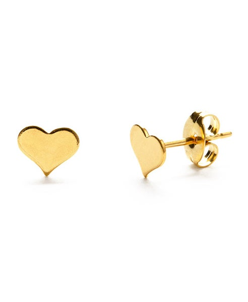Image of Amano Gold Tiny Heart Stud Earrings