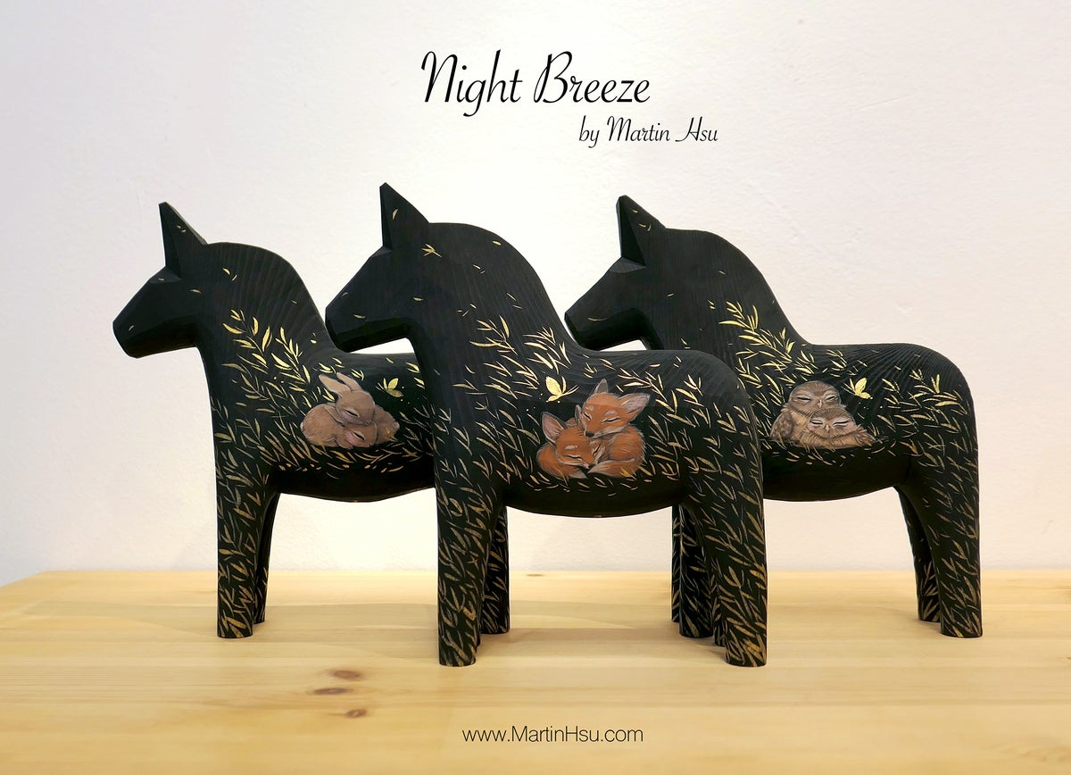 Night Breeze - Dala Horses 'Cottontail'