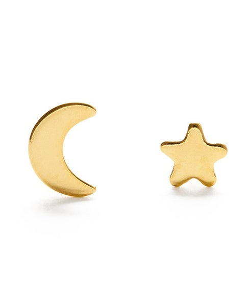 Image of Amano Gold Night Sky Stud Mismatch Earrings