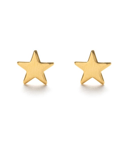 Image of Amano Gold Tiny Star Stud Earrings