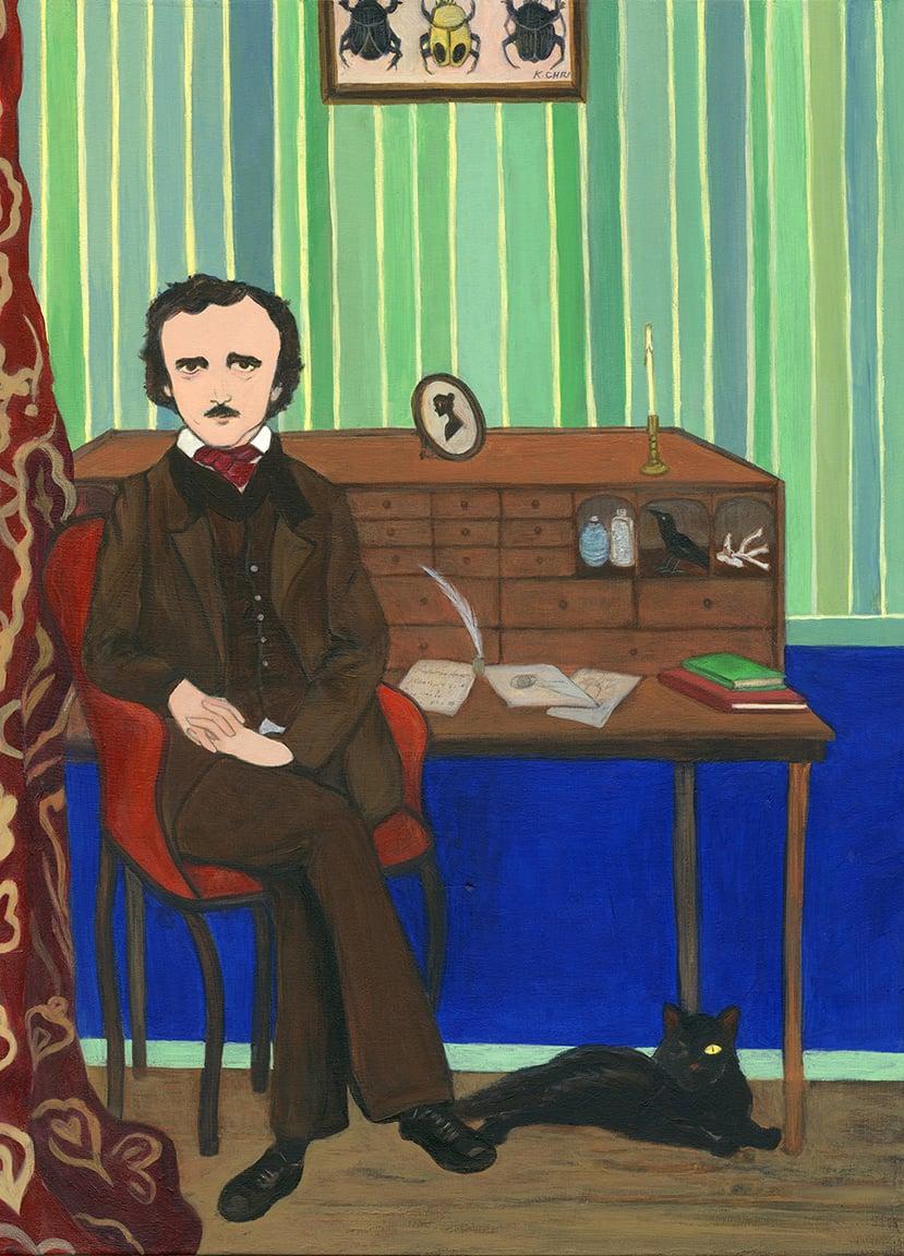 Image of Portrait of Poe Print