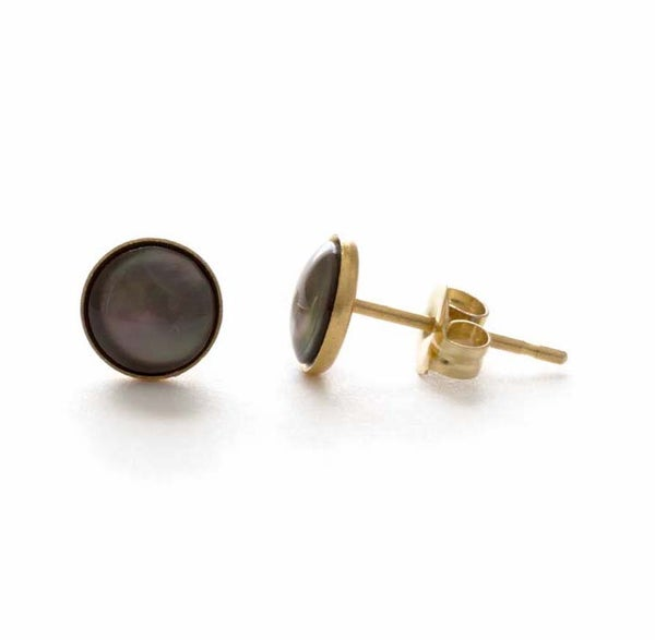 Image of Amano Tahitian Pearl Stud Earrings