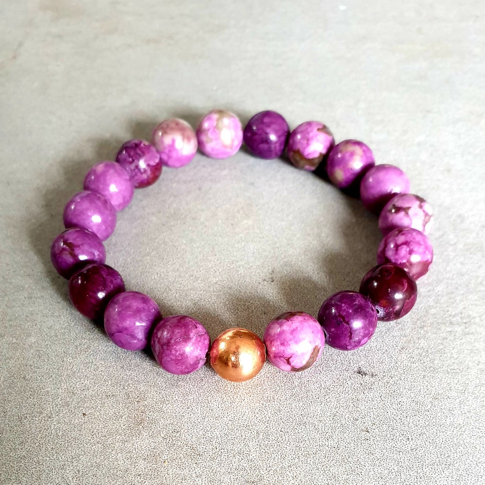 Image of SUGILITE & COPPER BRACELET - 6mm, 8mm & 10mm bead sizes