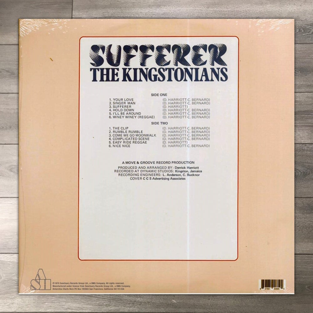 Image of The Kingstonians - Sufferer Vinyl LP