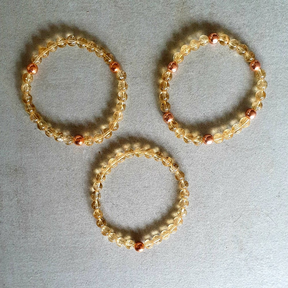 Image of CITRINE & COPPER BRACELET - 6mm & 8mm bead sizes