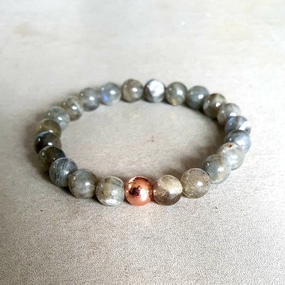 Image of LABRADORITE & COPPER BRACELET - 6mm & 8mm bead sizes