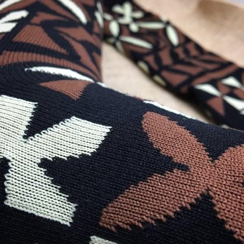 Image of Brown Tapa Socks