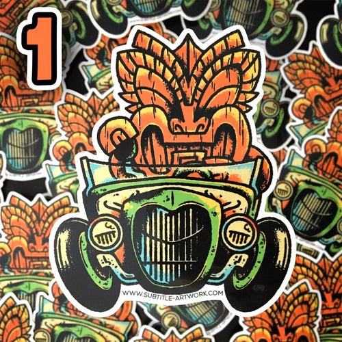 Image of Hot-Rods & Tikis Stickers