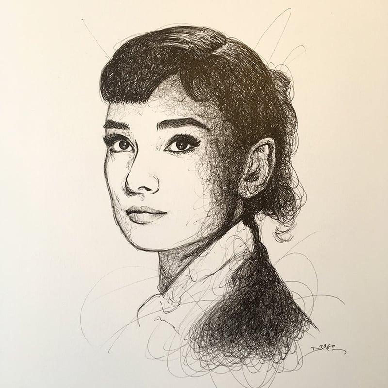 Image of Audrey Hepburn Doodle