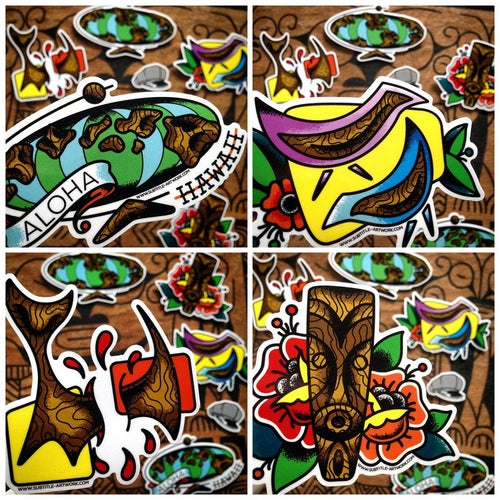 Image of Pack of 5 Witco Inspired Stickers