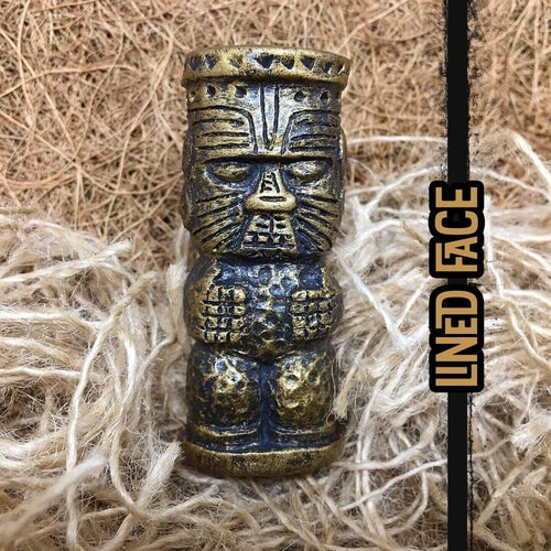 Image of Gold & Black Peanut Tiki Brooch - Limited Edition