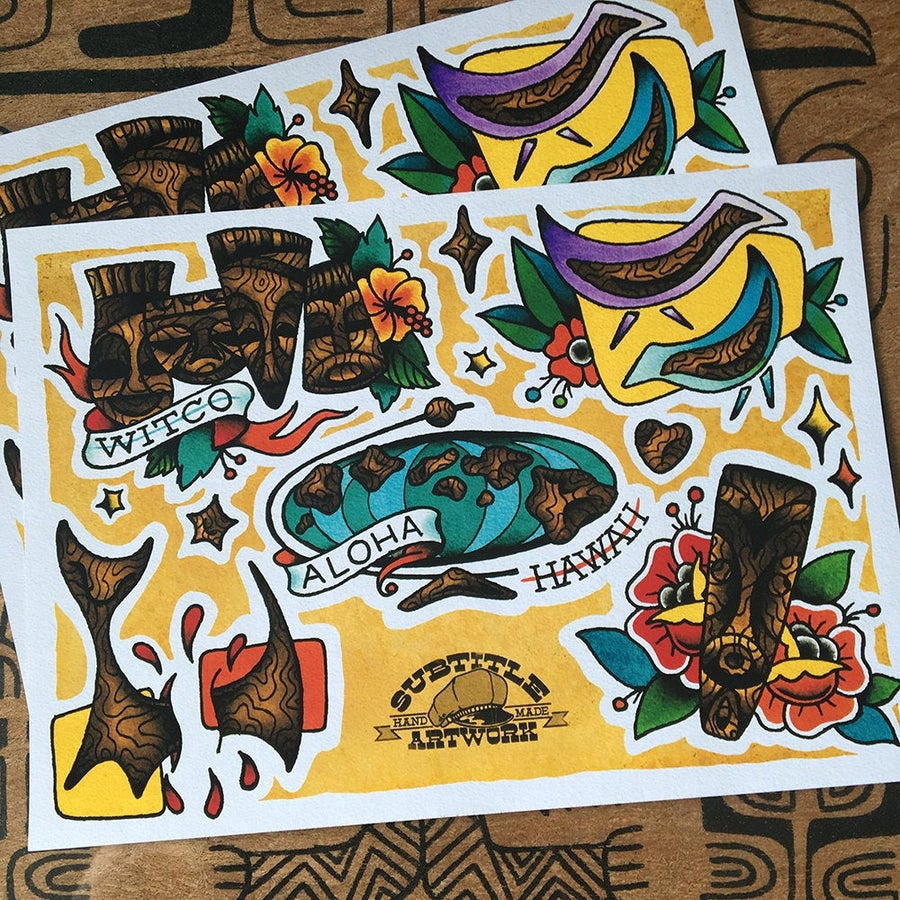 Image of Witco inspired Tattoo Flash