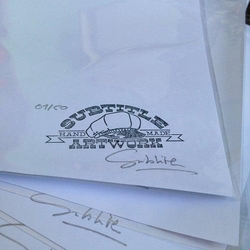 Image of The Munsters - Herman & GrandPa tattoo Flash Print