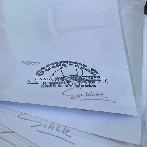 Image of The Munsters - Lily & Eddie Tattoo Flash Print