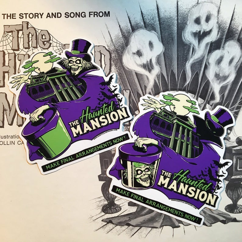 Image of Haunted Mansion - Hatbox Ghost Sticker