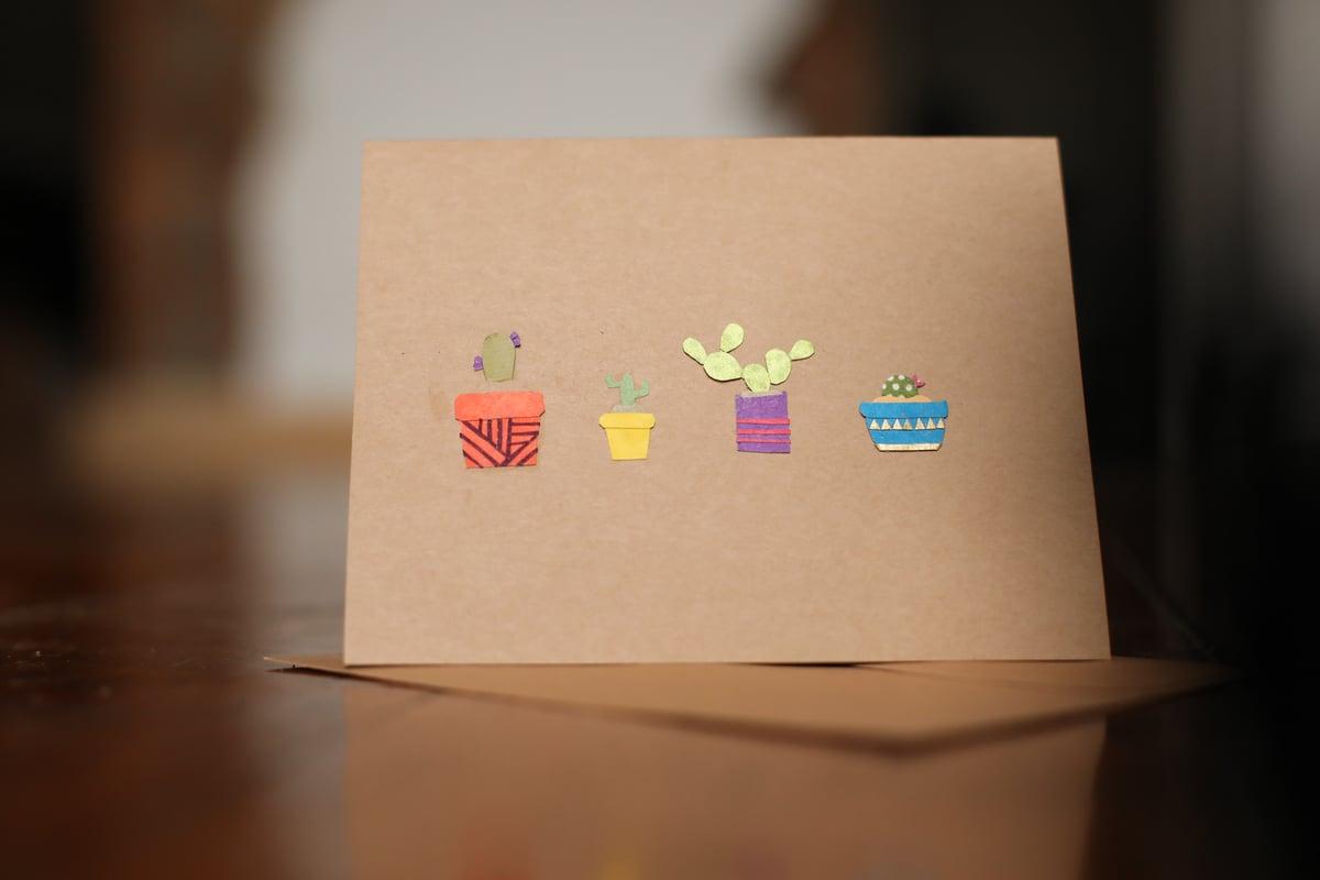 Image of Cactus Handmade Card