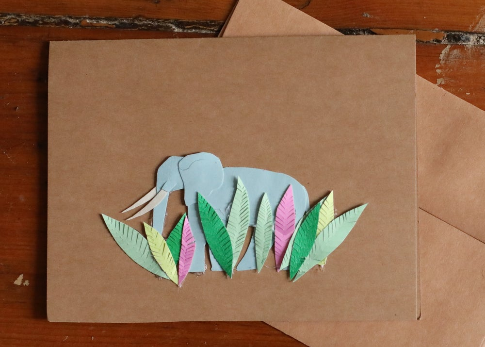 Image of Elephant Handmade Card
